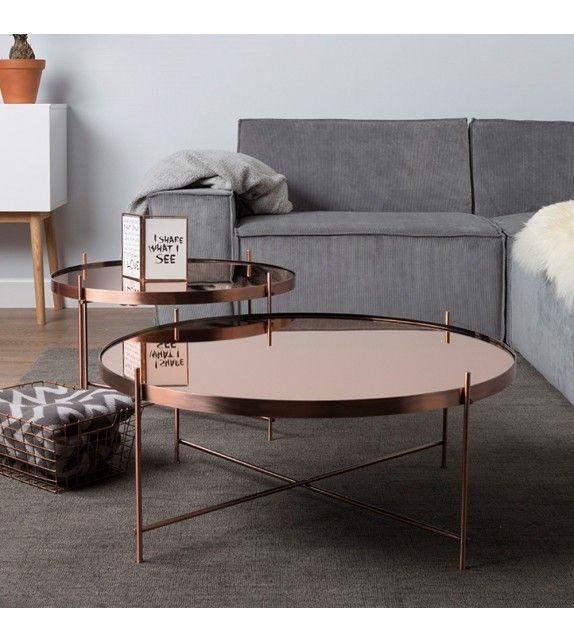 Table Basse Couleur Rose Gold Très Design Elle Est Parfaite Associé - Canape tres design