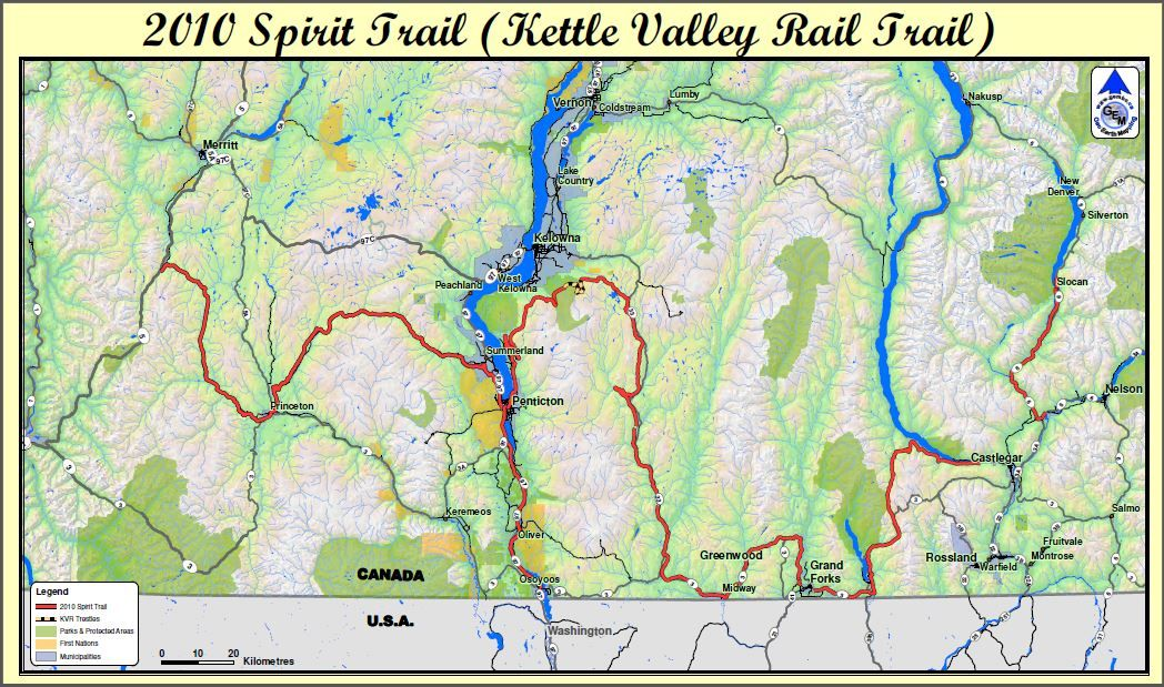 2010 Spirit Trail Kvr Route Map Earth Map Route Map Map