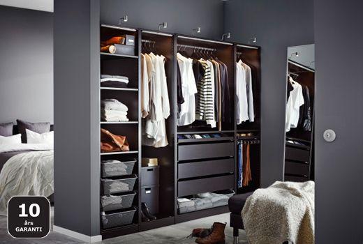 Walk in closet med fantastiska lösningar Homes Pinterest Sovrum, Garderob och För hemmet
