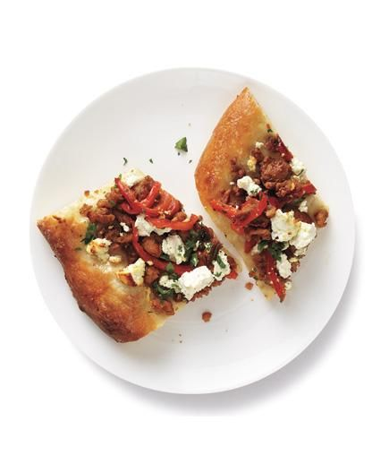 Turkey and Feta Flat Bread | Ground turkey is healthier than beef, less pricey than lamb—and, as you'll see from these recipes, fast-cooking and versatile, too.