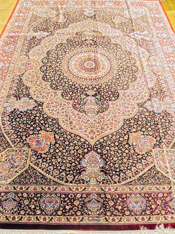 Qum Silk Persian Rug Exclusive