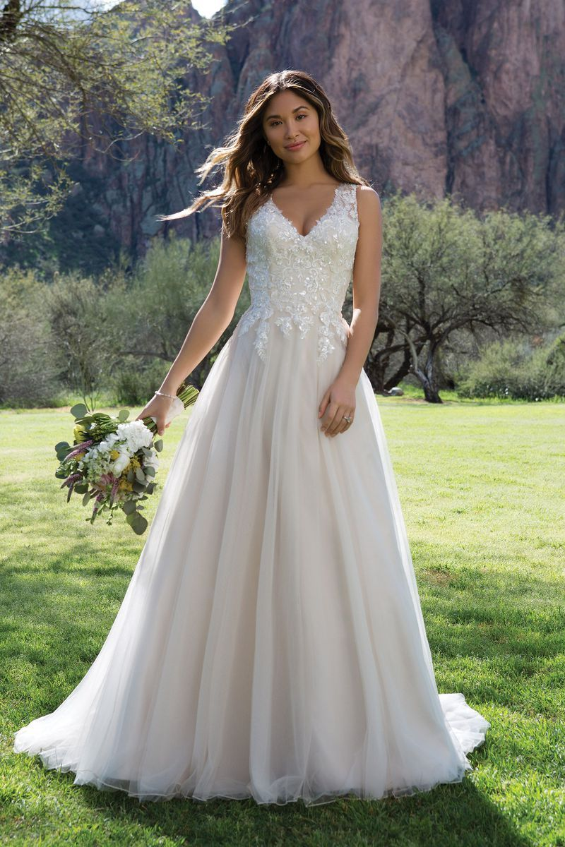 Sweetheart Gowns - Style 1139: Sequin Lace A-Line Gown with Keyhole ...