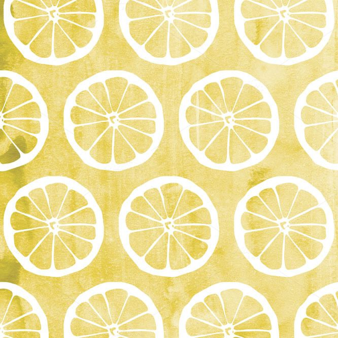 Lemon Watercolor Pattern in Yellow from the Summer Sun Textured Digital Patterns by Blixa 6 Studios on Creative Market