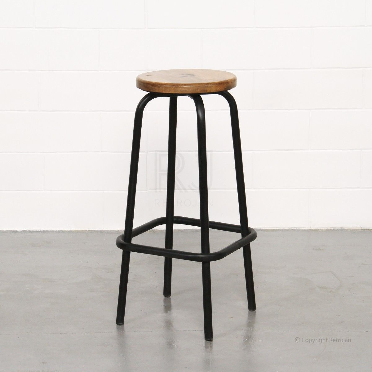 Surprising Clifford Industrial Stool Black Consept Stool Stool Gmtry Best Dining Table And Chair Ideas Images Gmtryco