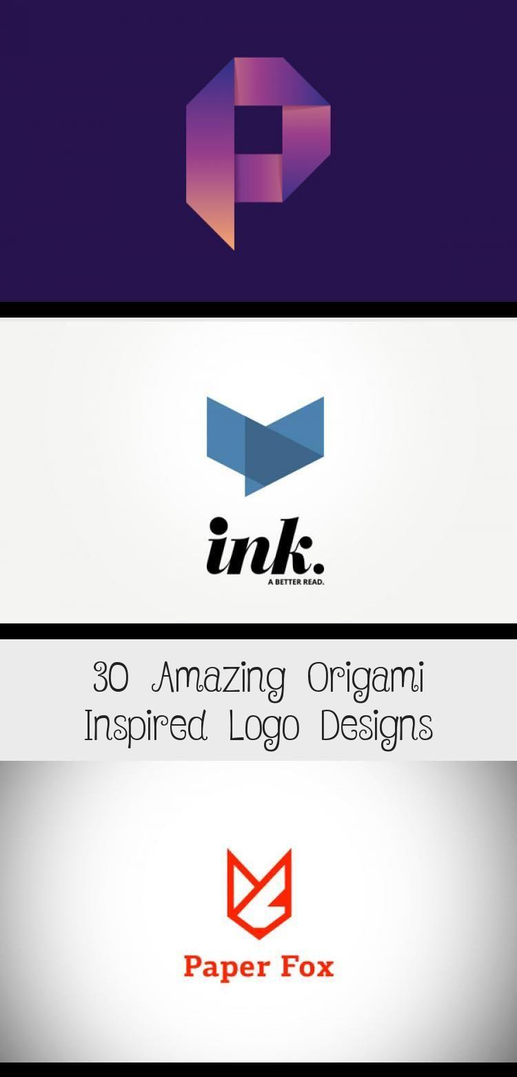 30 Amazing Origami Inspired Logo Designs Logos Graphic Design