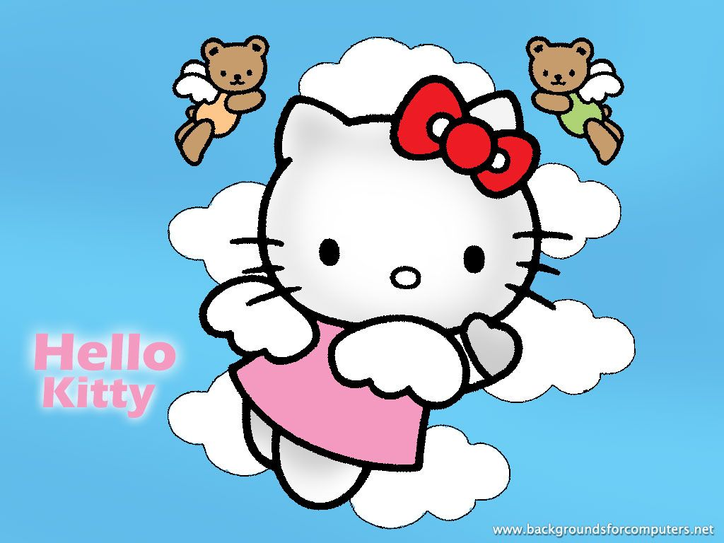 05f1372bd Hello Kitty angel and teddy bear angels | Hello Kitty | Hello kitty ...