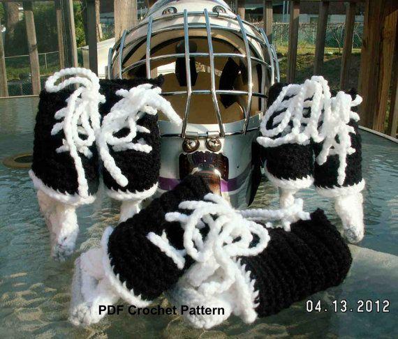 Instant Download  Ice Hockey Skates Crochet by IrishHooksAndYarn, $4.95