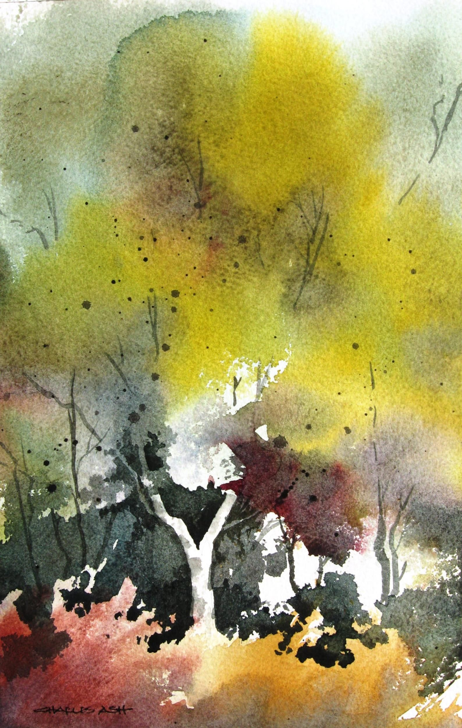 Mountain Spring Original Watercolor Painting In 2020