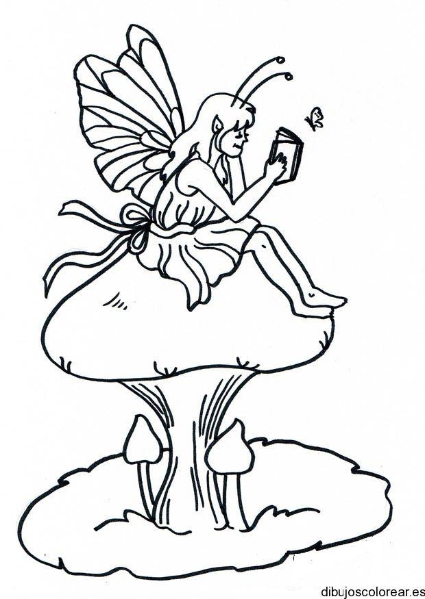 Dibujos de Hadas | Dibujos para Colorear | HADAS Y DUENDES ...