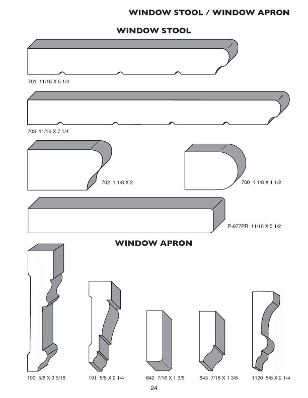 Window Apron Moulding The Pioneer Millwork Moulding Profile Catalog Millwork Moulding Profiles Windows