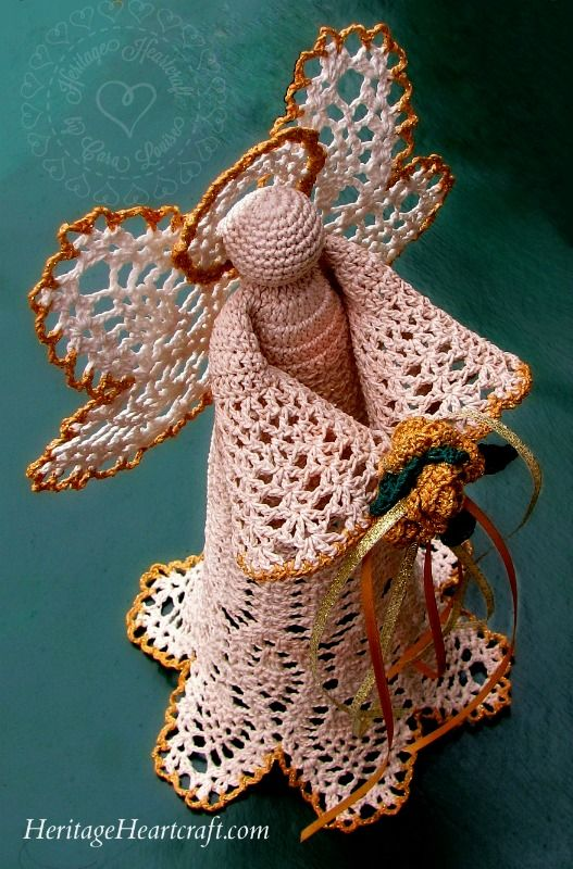 Beautiful Christmas Angel Tree Topper From Heritageheartcraftcom