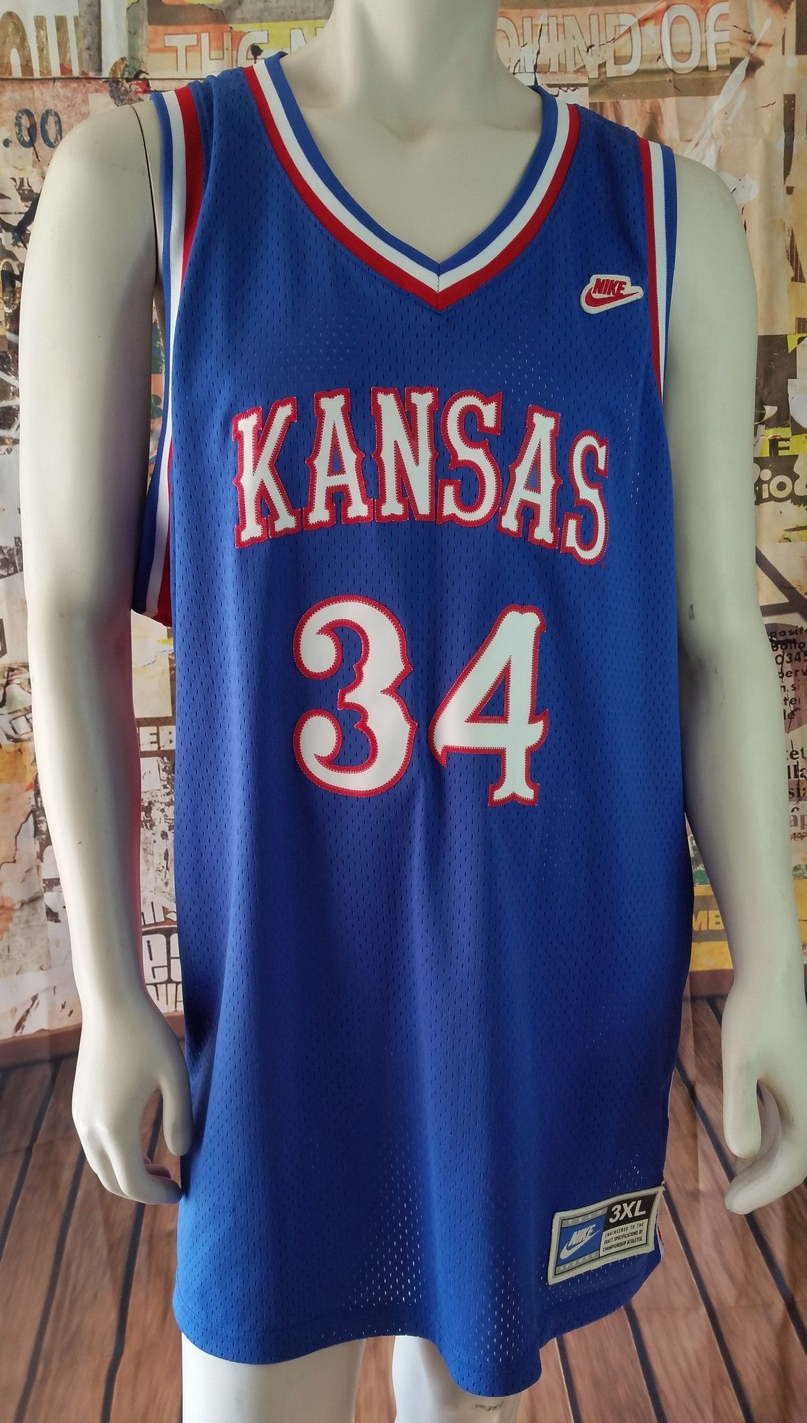 san francisco 403c9 3103b Paul Pierce Vintage NIKE Jersey Kansas Jayhawks Throwback ...