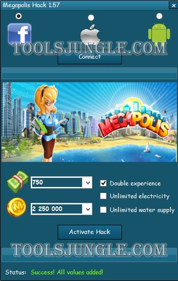 Download this Megapolis cheats and generate free Megabucks