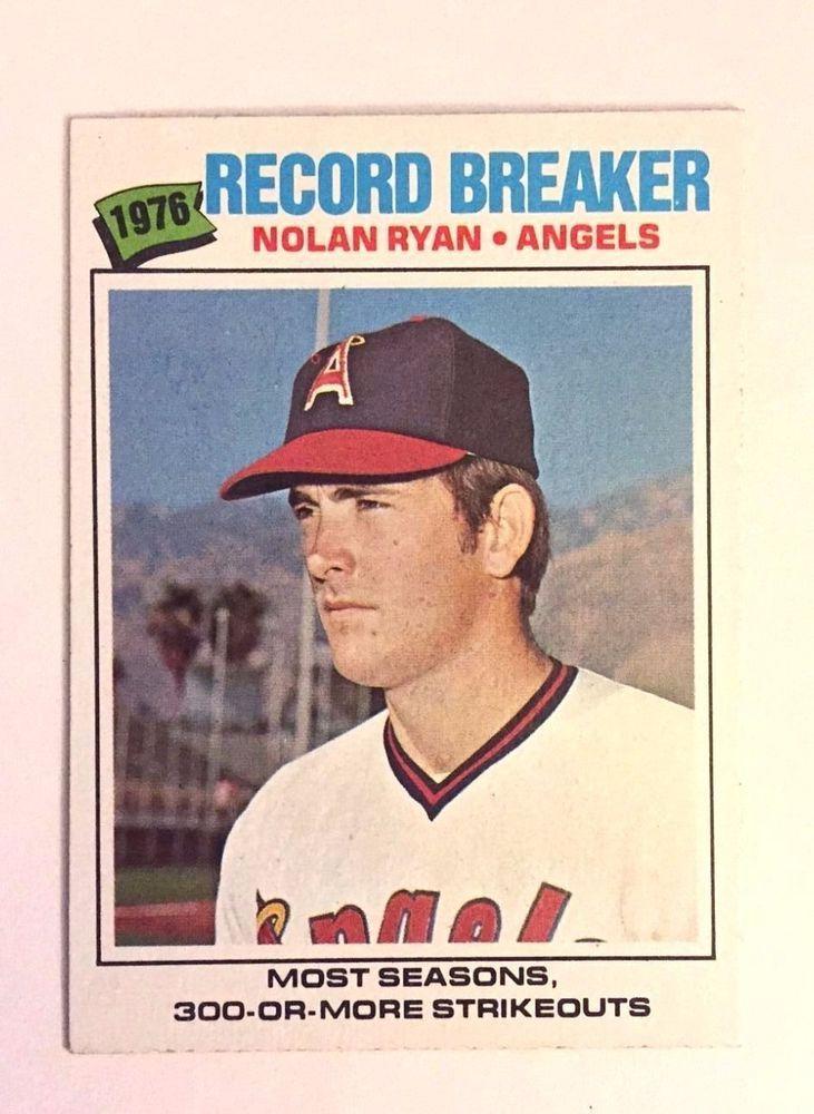 Selling Baseball Card 1977 Topps Nolan Ryan California Angels Card