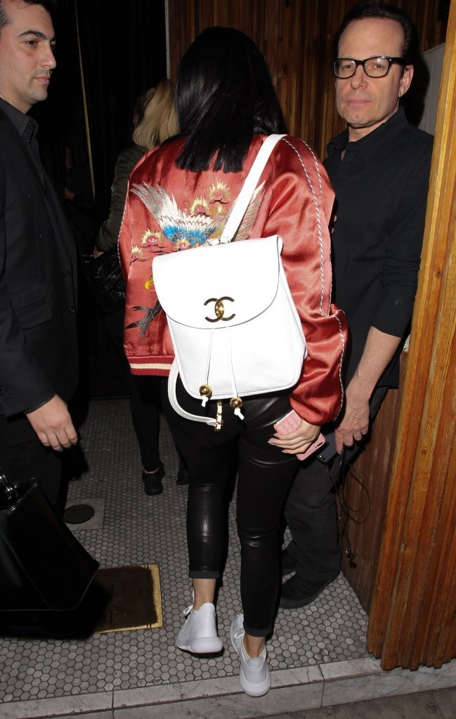 0f76c04d0289 White Leather Chanel Backpack. White Leather Chanel Backpack Kylie Jenner  ...
