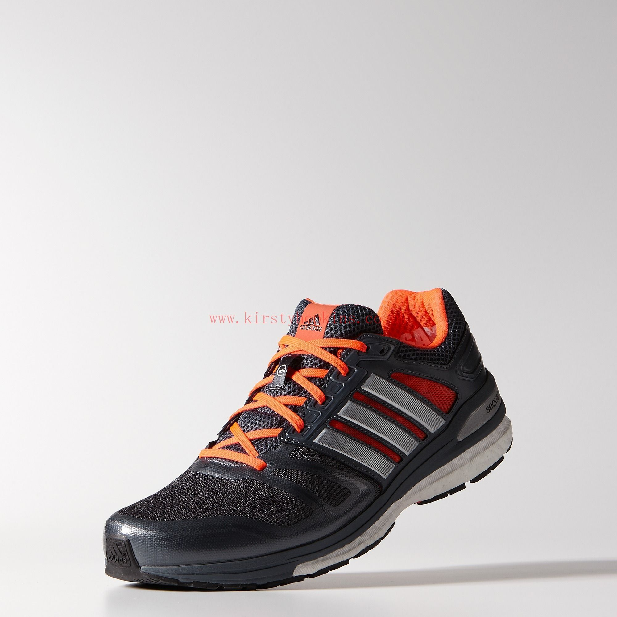 new style e259f dfb9b Men   Running Supernova Sequence Boost 7 Wide Shoes Bold Onix   Metallic  Silver   Infrared