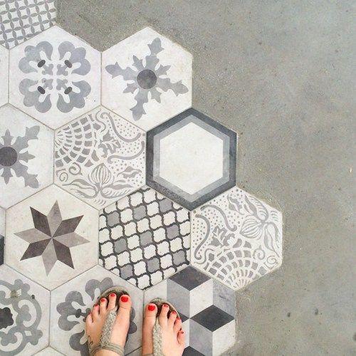 Mustermix Mosaik Kacheln Fliesen Grau Stein Fußboden Haus - Marokkanische fliesen hamburg