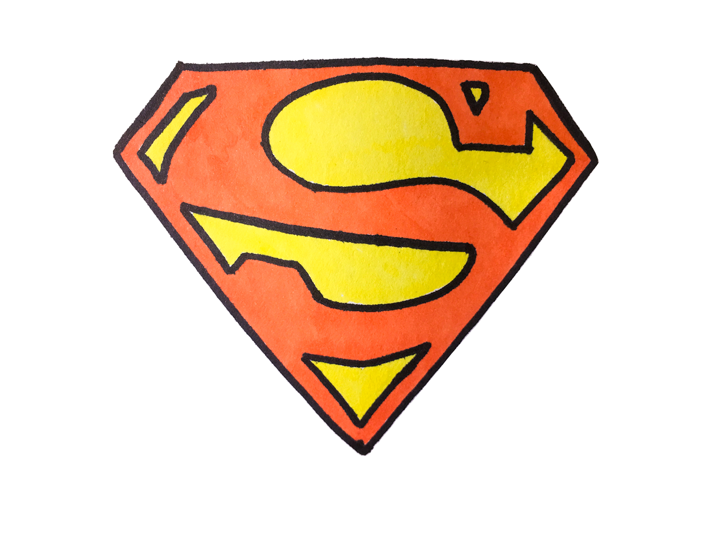 How To Draw Superman Logo Easy Step By Step Superman Drawing Superman Logo Drawing For Beginners