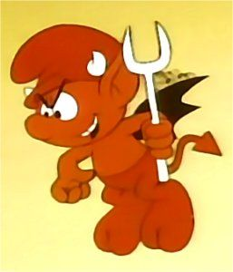 Devil Smurf is the bad voice in in the smurfs' heads that