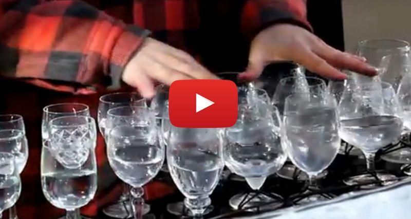 Amazing Water Glass Musician In Prague
