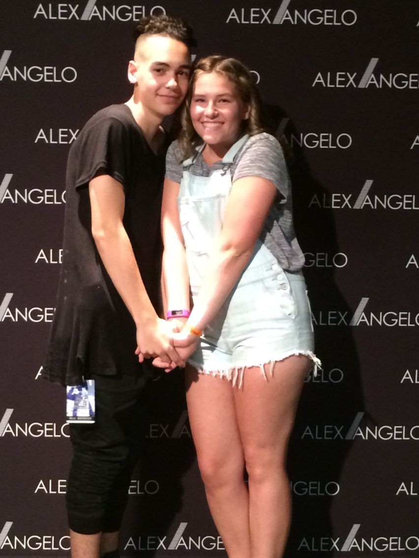 Alex Angelo And I On August 1st 2015 In Hob For Jake Millers Dazed