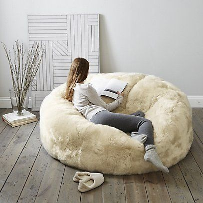 6c81a731aa ... love giant (faux) furry beanbags. Long Haired Sheepskin Family Beanbag