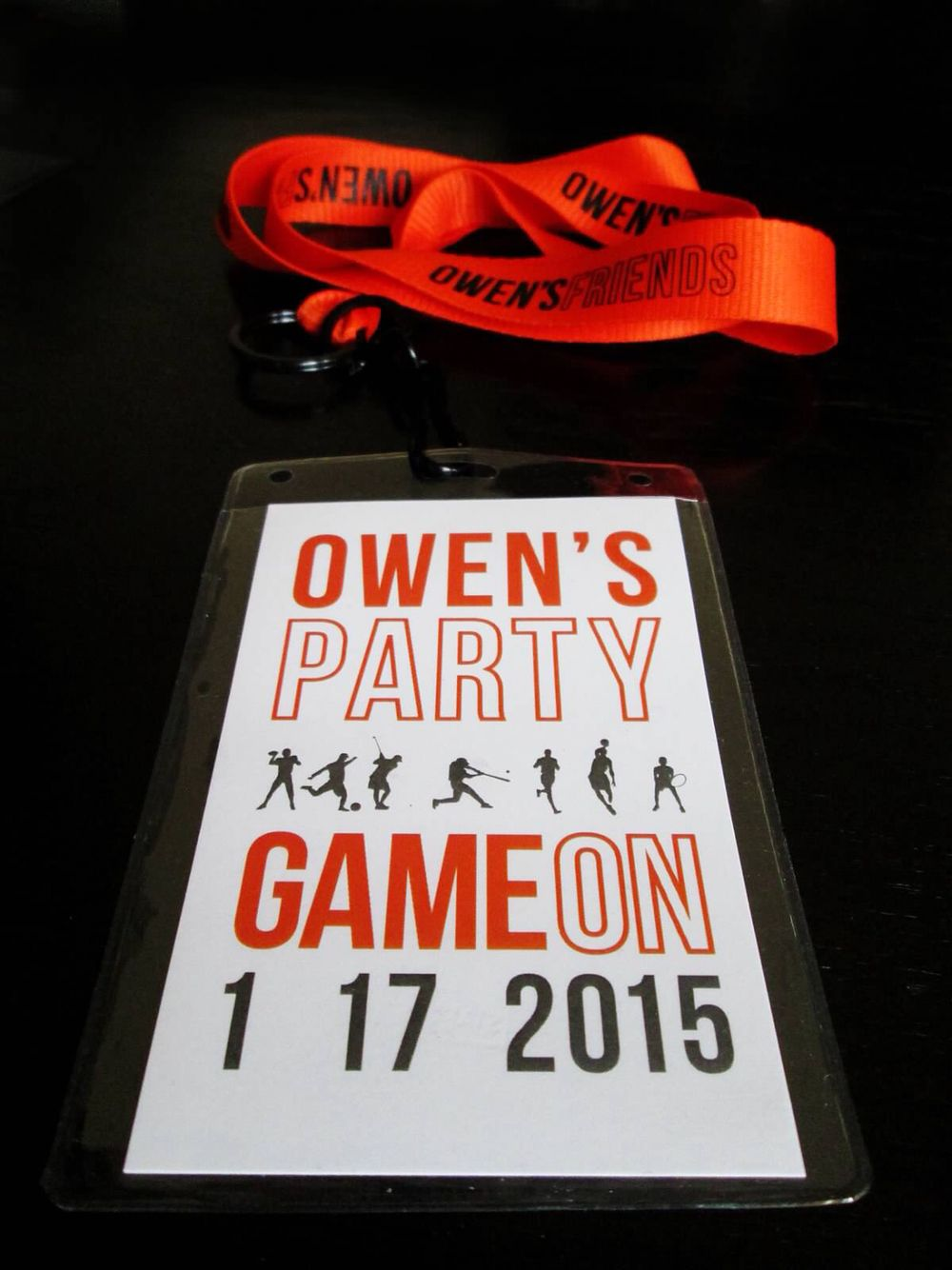 Bar Mitzvah party pass. Sports themed. Dave & Busters