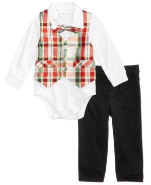 cf045be2d712 Bonnie Baby 4-Pc. Plaid Vest Suit Set