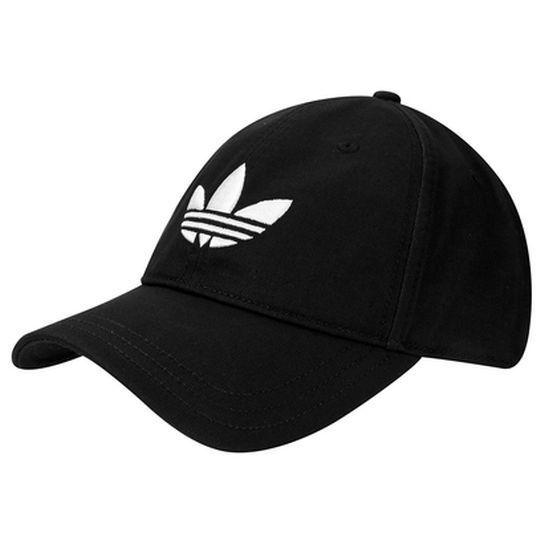 Boné Adidas Originals Trefoil - Preto Branco Mais  102601cec4d