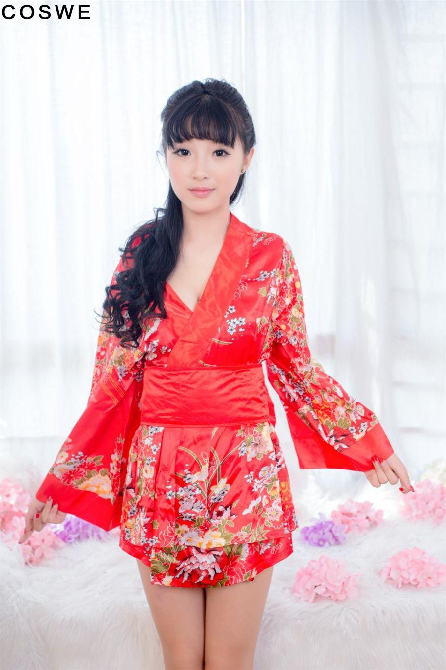 27aa52bb5  14.98 - New Fashion Women tight sexy kimono short woman s sexy set Club  suit print V-neck sexy kimono short dress