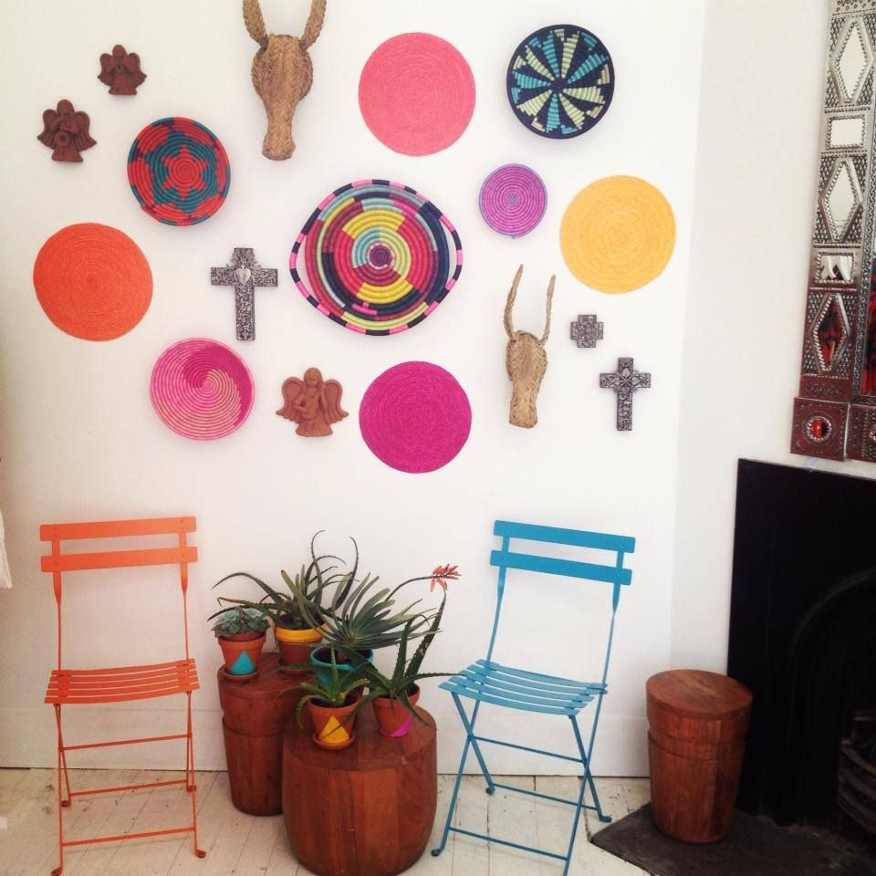 Contemporary modern mexican interior and wall decorations by