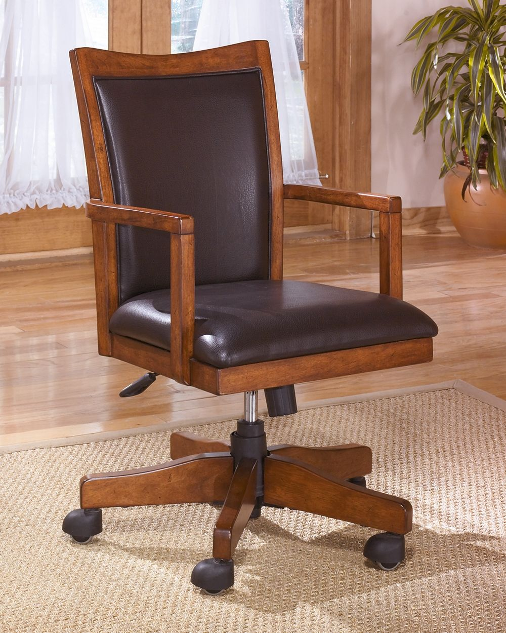 Cross Island Home Office Desk Chair Medium Brown Products