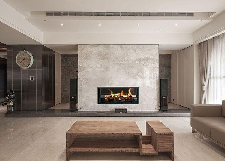 Chimenea moderna modelo Belfort Sala de estar Pinterest - chimeneas modernas