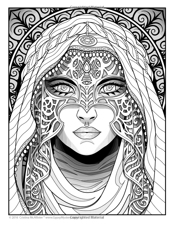 Image result for magical beauties | Adult coloring pages