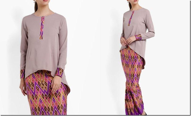 Baju Raya 2017 Idea ashhighlowbatiksarawakstylekurung