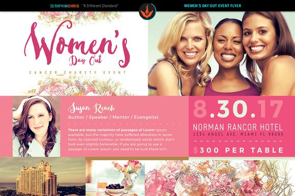 women conference flyer templates