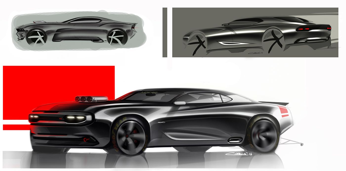 Charger Muscle Cars Pt On Behance Transportation Sketches