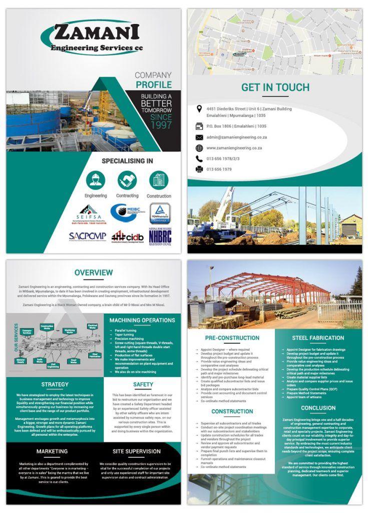 Captcha Company Profile Design Company Profile Corporate Profile