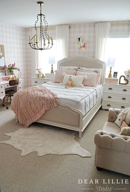 Lillie S Room With A New Chandelier Country Bedroom Decor French Country Bedrooms French Country Decorating Bedroom Lillie room with new chandelier
