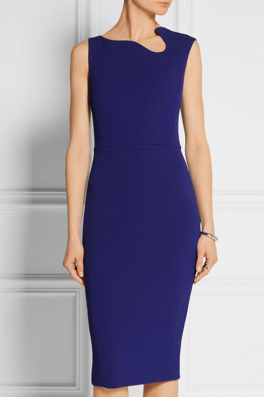 Victoria Beckham Crepe Dress Dresses Crepe Dress Office Dresses For Women [ 1380 x 920 Pixel ]