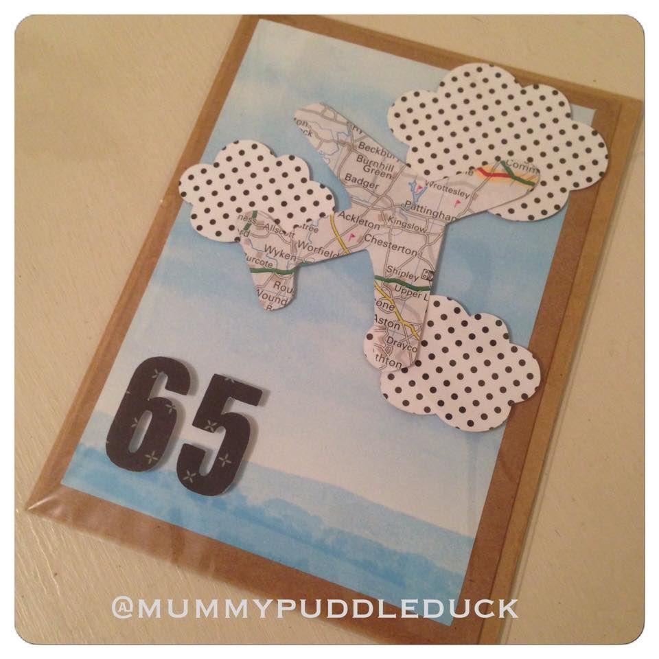 Handmade Plane Map Travel Card For Mummypuddleduck Makeitmay