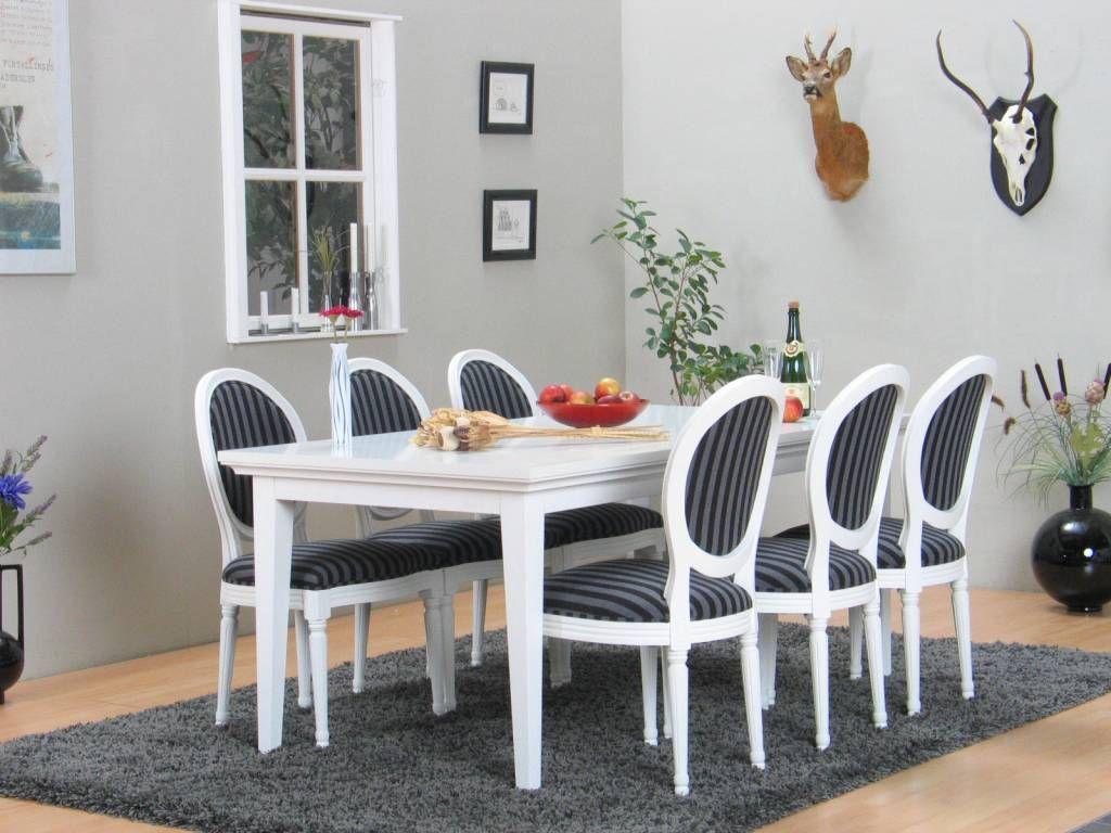 Witte Eetkamer Stoel : Landelijk witte eetkamer wit venetie zes barok stoelen rococo