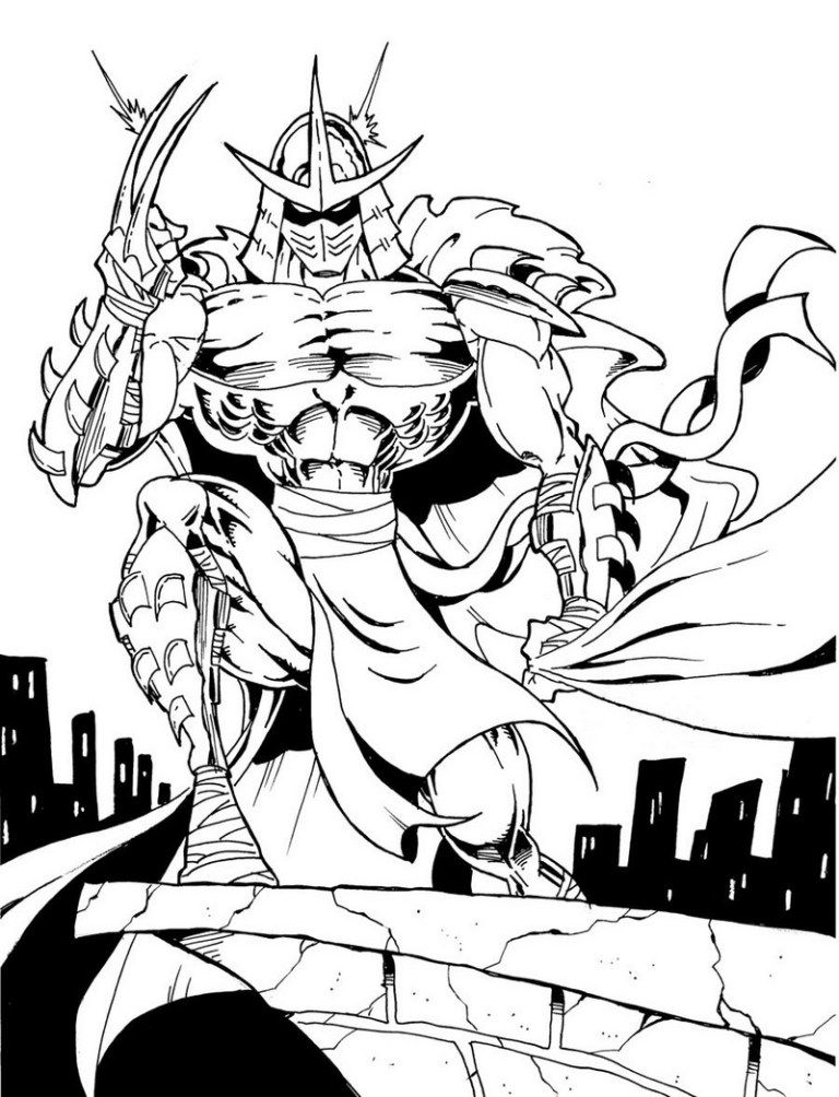 tmnt coloring pages shredder machine - photo#1