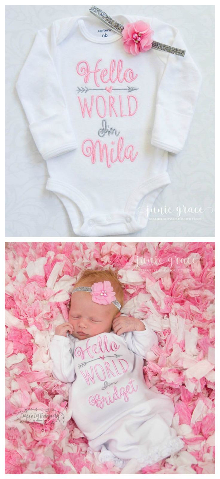 2f0bf440f4fd6 Junie Grace - Hello World! Personalized coming home outfit for ...