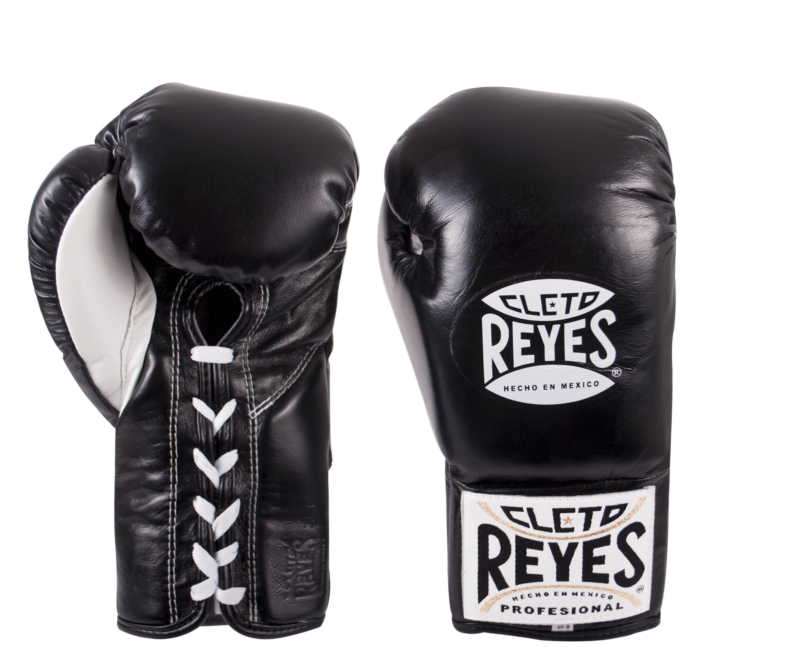 NEW CLETO REYES PROFESSIONAL BOXING GLOVES LACE WHITE LEATHER