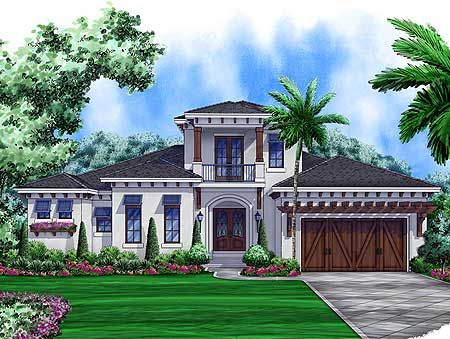 Plan 66319we West Indies House Plan With Great Outdoor Areas Mediterranean Style House Plans Beach Style House Plans Florida House Plans