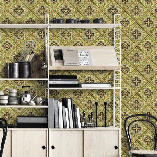 Italian Tile Wallpaper Italian Tiles Tile Wallpaper Eclectic Design Style