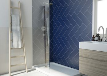 Wickes Dawn Cobalt Ceramic Wall Tile 400 X 150mm In 2020 Wickes