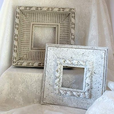 DIY Shabby Chic White Frame For Wall Display Part 3 | decoupage ...