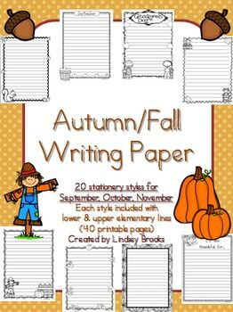 primary school writing paper
